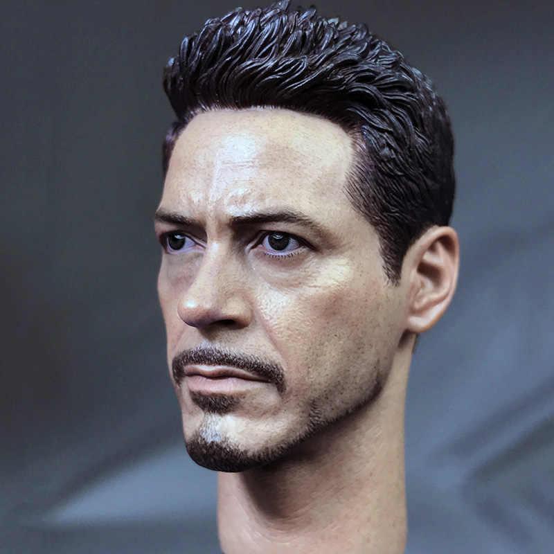 1/6 Capitão América Homem De Ferro Tony 3 Batalha Danificado/Versão Normal Cabeça Esculpir Com Pescoço Masculino Headplay