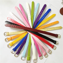 Sales 10 Mm Pu Leer Snake Polsband Armbanden Diy Charm Wristand Fit 10 Mm Slide Charms WB01-2(China)