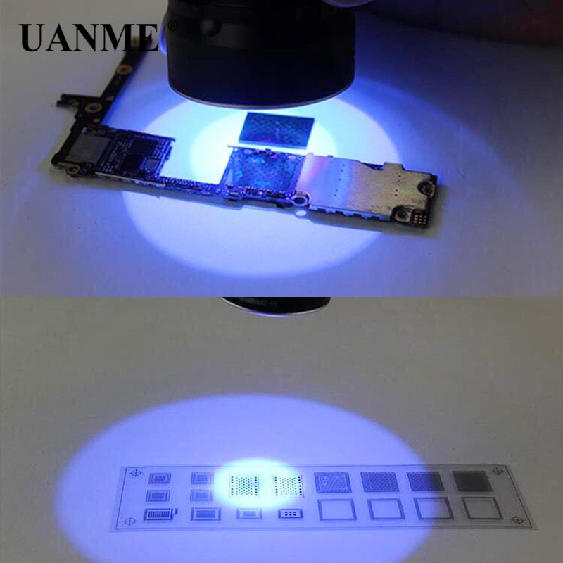 UANME Mobile Phone Repair Tool UV Glue Curing Lamp USB 5V LED Ultraviolet Green Oil Curing Purple Light For IPhone Circuit Board