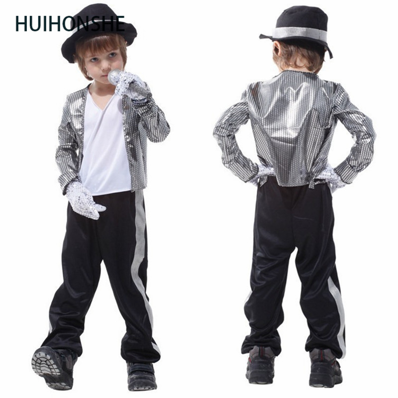 HUIHONSHE Superstar Michael Jackson performence suits Halloween children cosplay costume singer dance suits Christmas stage