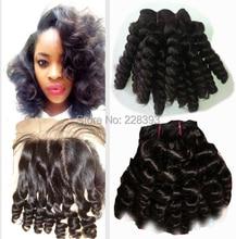Grade 7A Brazilian Virgin Hair Silk Base Closure with Bundles Miracurl Hair Bundles with Silk Base Closure 3pcs/lot