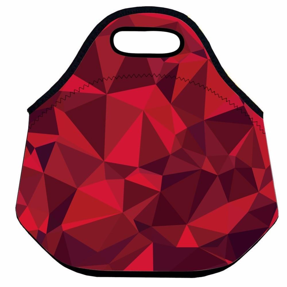 Instantarts Red Lip Monkey Pattern Hiking Camping Picnic Bags Waterproof Neoprene Food Storage Bags Lunch Tote Handbag For Women Beautiful In Colour Camping & Hiking Picnic Bags