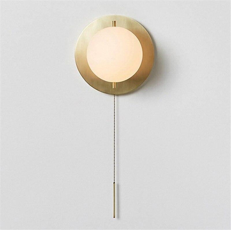Скандинавский, постмодерн, минималистичный стиль личности, дизайнерский стиль, гостиная, коридор, латунь 15 см шар настенный светильник, модель стиль