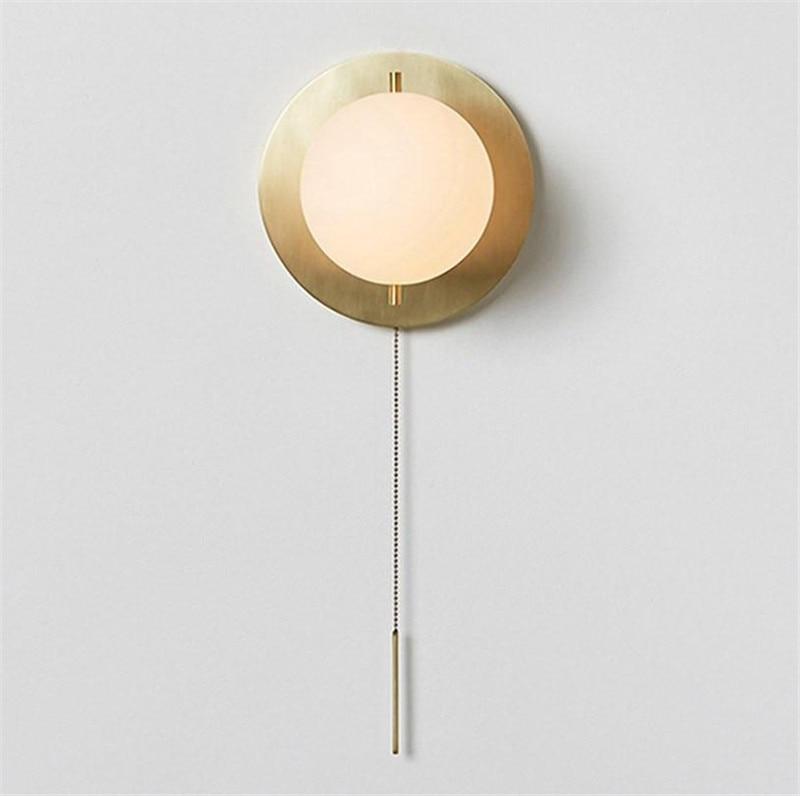 Nordique, post-moderne, minimaliste personnalité style, designer style, salon, couloir, en laiton 15 cm lampe de mur de ballon, modèle style