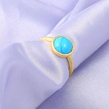 Classic ladies Gold Color Plated Blue stone Rings Adjustable Ring for Women Engagement Bands Rings Love ring With Stone недорого