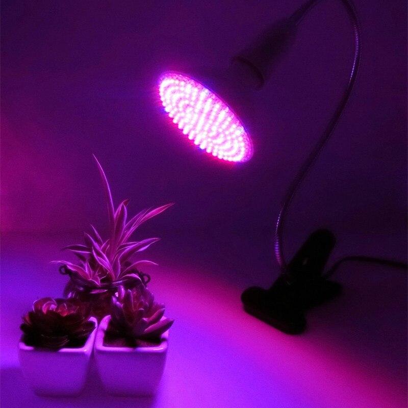 2/5/7W LED Grow Light 360 Degrees Flexible Lamp Holder Clip LED Plant Growth Light Sunshine  Supplement Lights