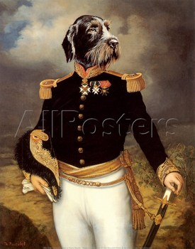 Dogs portrait Ceremonial Dress Thierry Poncelet hand painted oil Canvas Painting High quality