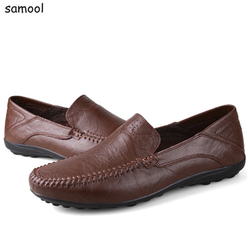 Summer Breathable lazy Men Loafers Handmade Moccasins Genuine Leather Casual Shoes Slip On Flats Mens Driving Shoes plus Size 1 big size 39 48 men flats summer genuine leather loafers breathable driving shoes moccasines slip on male casual shoes xk032808