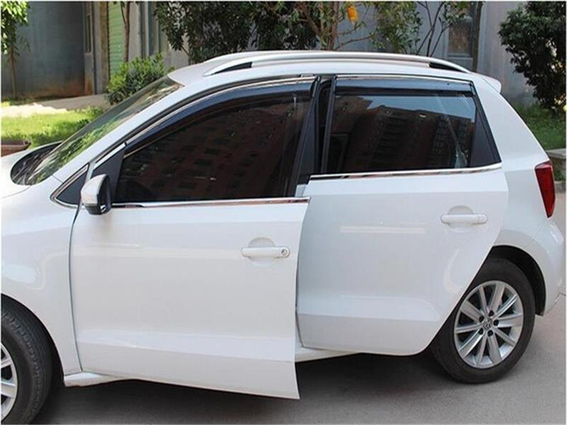 For VW Polo hatchback /sedan 2011-2015 2016 Window Visor Vent Shades Sun Rain Deflector Guard Awnings Car Styling Accessories built guard bump guard plate after the pedal steel trunk for 2011 2012 2013 2014 vw volkswagen polo hatchback