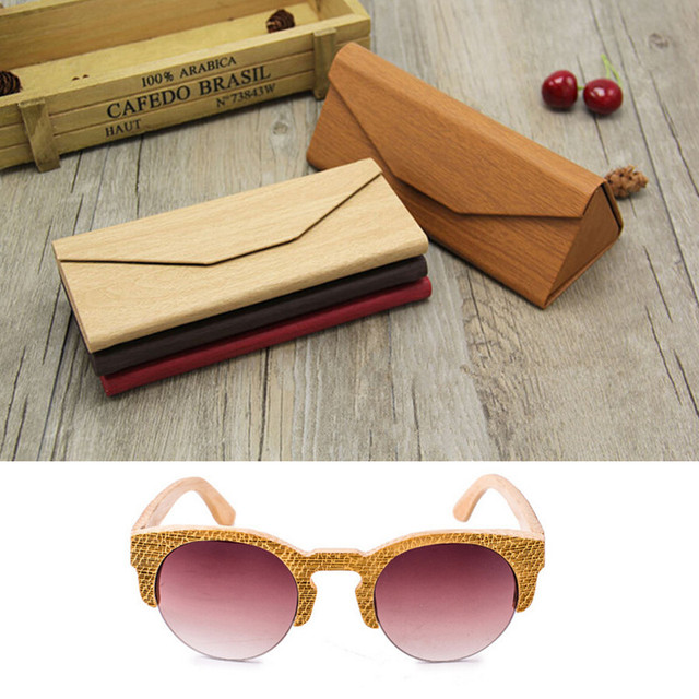 891fa554f73e High Quality Fashion 100% Handmade Natural Laser Gold Wood Glasses Frames  Cat Eye Sunglasses Wooden Frame Polarized Lens
