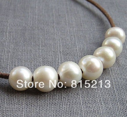 wb 00144 Potato Pearl Freshwater Pearl Large Hole Pearl White 8.5-9.5mm 10Pcs 2mm Hole wholesale 100 pcs button black freshwater pearl half hole drilled q30159 1