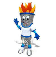 קמע קמע תלבושות מהודרת מותאם אישית חורף לפיד אש תלבושות אנימה קוספליי קרנבל תלבושות mascotte פנסי dress