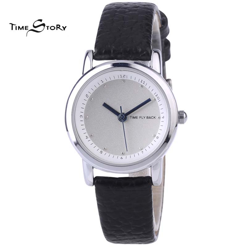 2015 Luxury Brand Women s Leisure Quartz Analog Rhinestone Anti clockwise Watches Women Waterproof Leather Band