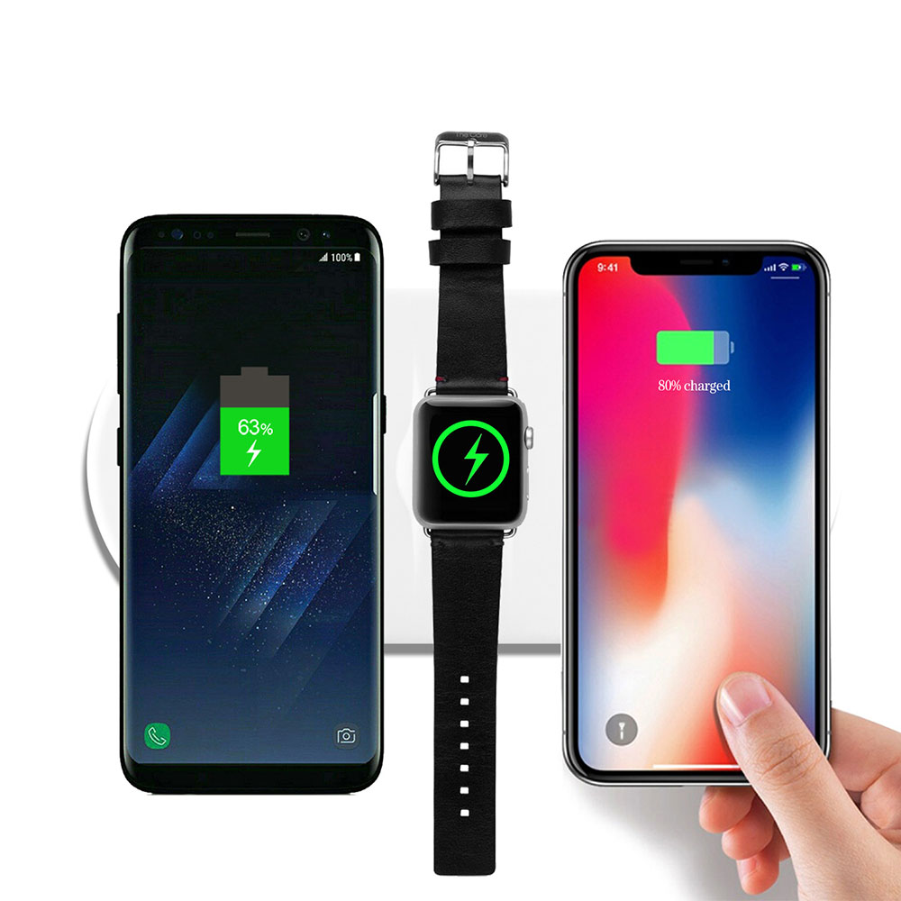 3 In 1 Qi Fast Wireless Charger Pad for IPhone X 8 Plus Samsung Note 9 S9 QI-enabled Devices for Apple Watch 1 2 3 4 10W 7.5W 2W3 In 1 Qi Fast Wireless Charger Pad for IPhone X 8 Plus Samsung Note 9 S9 QI-enabled Devices for Apple Watch 1 2 3 4 10W 7.5W 2W