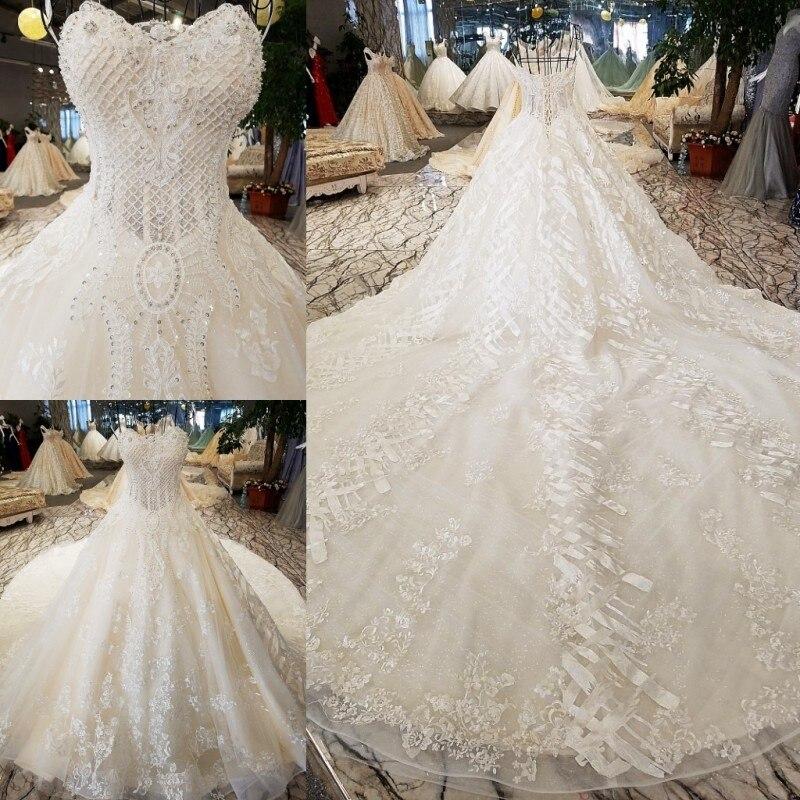 LS74521 rochii de mireasa de lux rochie de mireasa fara buzunar - Rochii de mireasa - Fotografie 6