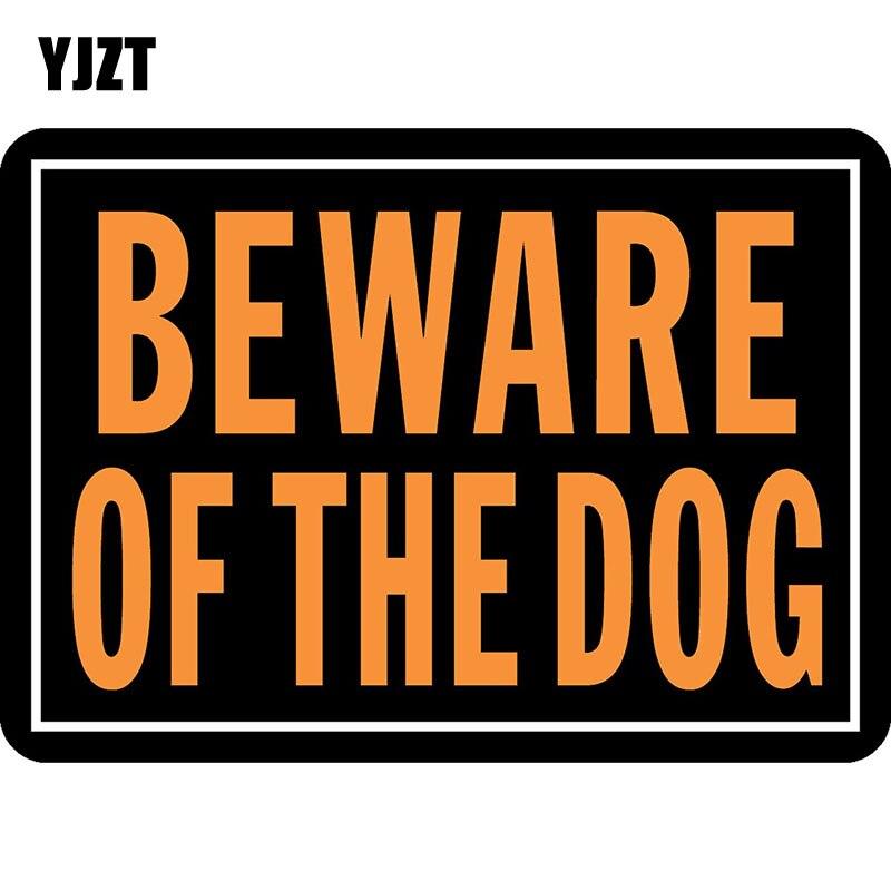 Yjzt 15 см * 10.7 см Остерегайтесь thedog автомобиля Стикеры вывеска светоотражающие наклейки c1-7092