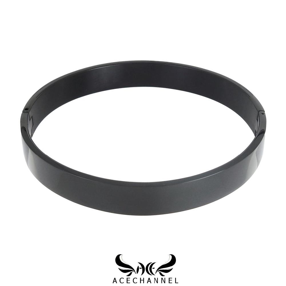 polished stainless steel black slave lockable collar choker necklace fetish wear torque with bondage restraints set