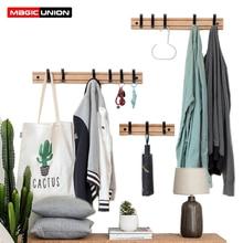 Magic Union, деревянная вешалка для одежды, вешалка для ключей, простой крючок, настенная полка, мебель для спальни, для дома, декоративная