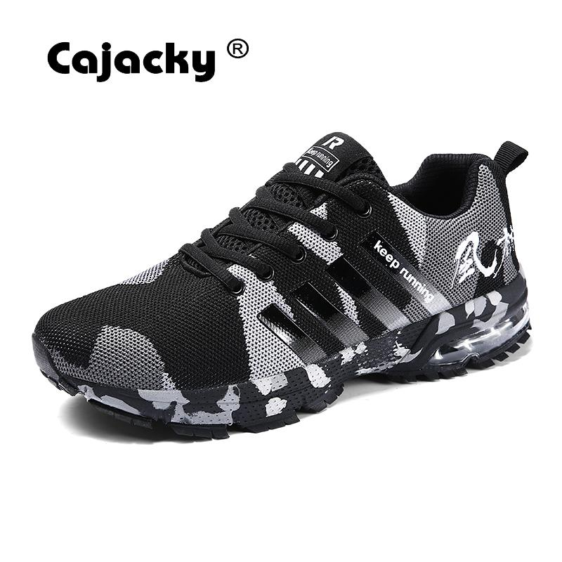 Cajacky Men Casual Shoes Plus Size 46 Men Shoes Military Sneakers 2018 Summer Autumn Trainers Army Green Unisex Camouflage Shoes