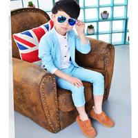 Korean Casual Children's Clothing Boys suit Jurken spring/autumn Loaded new Kids Dress two pcs Suit+Pants tide Infant Blazers