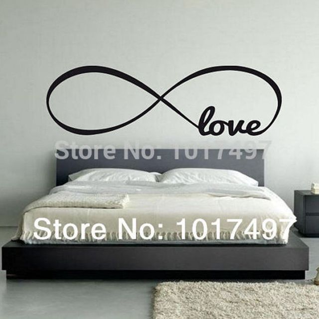Free Shipping Bedroom Wall Decals Love Wall Stickers Bedroom Decor Infinity Symbol Word Love