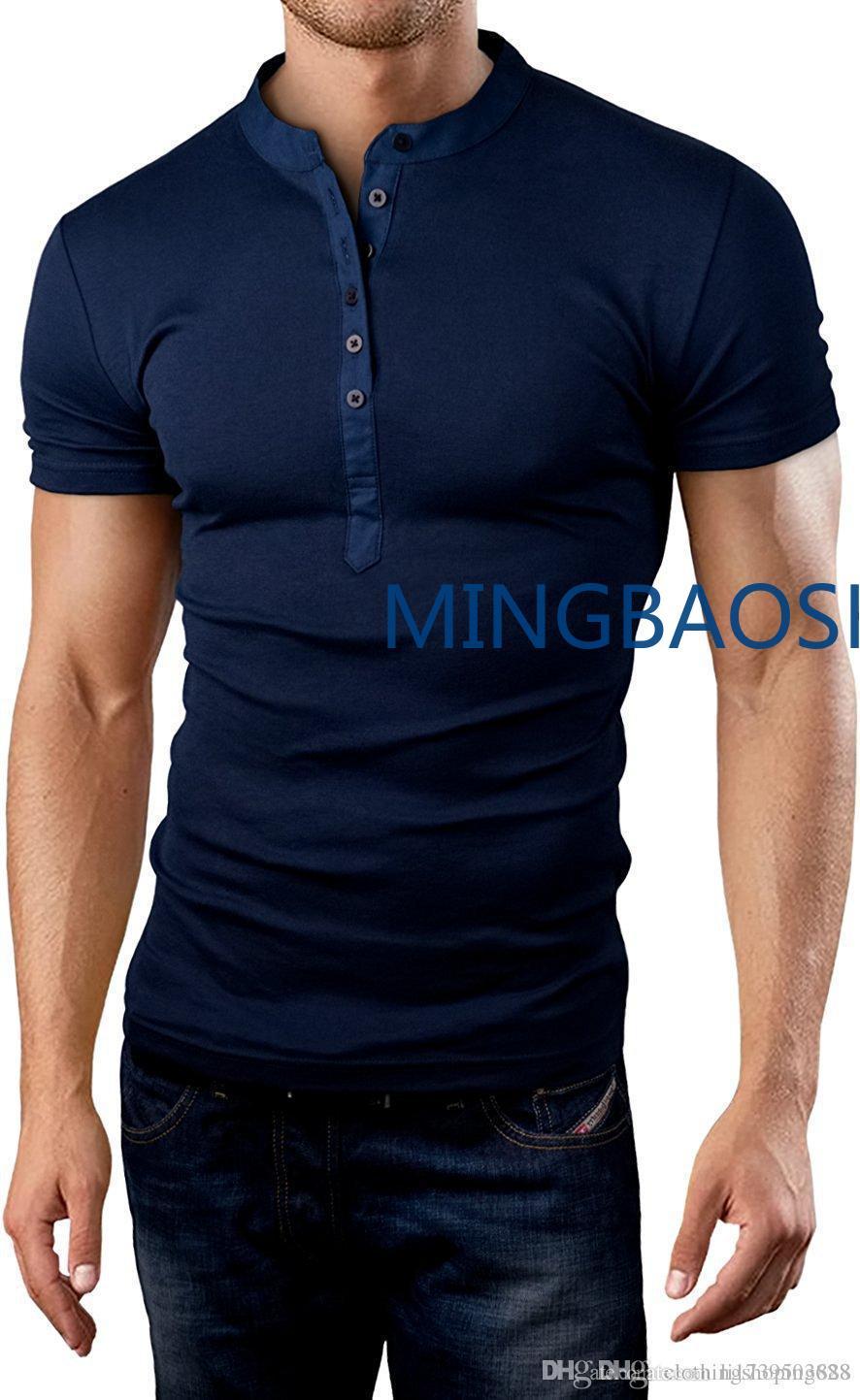 new style eda92 d1419 US $14.97 25% OFF Mens Luxury Designer Brand Shorts Sleeve V T Shirts for  men wrestling Herren T shirts mens T Shirt plus size men clothing 4xl-in ...