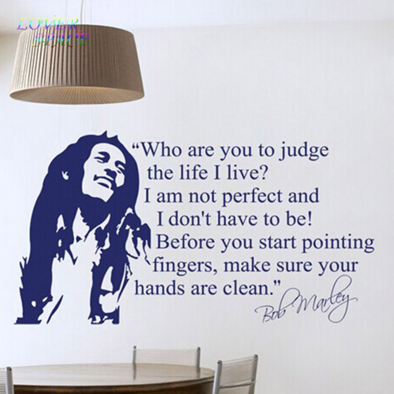 Gros Bob Marley Cours Wall Sticker Vinyle Stickers Muraux Cite ...