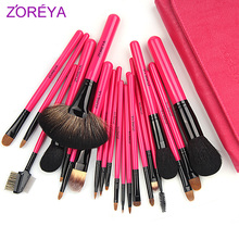 High quality ZOREYA Brand Professional rose pink 22pcs/set Makeup Brushes Set Makeup Tools Cosmetic Brushes Set Cosmetic Tools