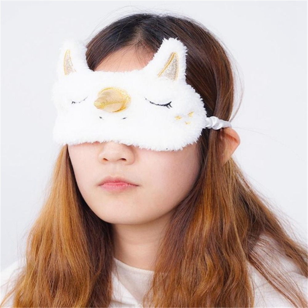 1PC Unicorn Cute Sleeping Mask Eye Shade Cover Patch for <font><b>Girl</b></font> Kid <font><b>Teen</b></font> Blindfold Travel Makeup Eye Care Tools Night Accessories image