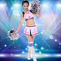 Children Cheerleading Uniform Performance Skirt Children  Dance Sexy Cheerleader Costume Female Pupils Cheerleader