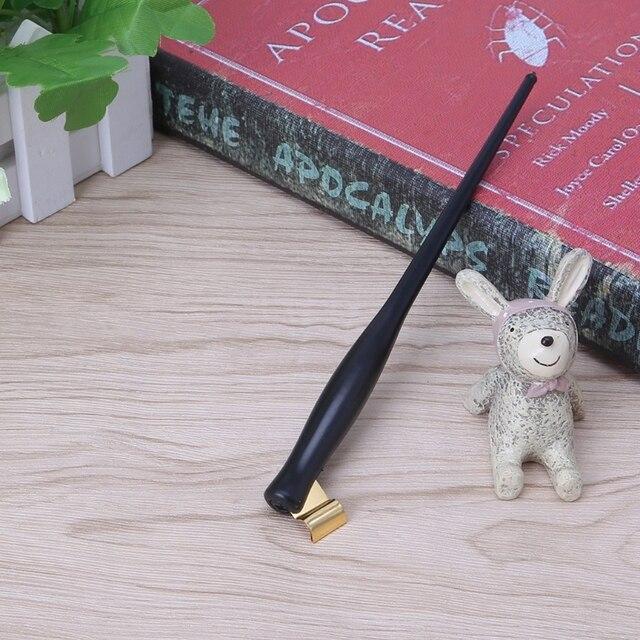 Assiette en cuivre anglais, Script, stylo à trempette Antique, calligraphie Oblique, porte-stylo