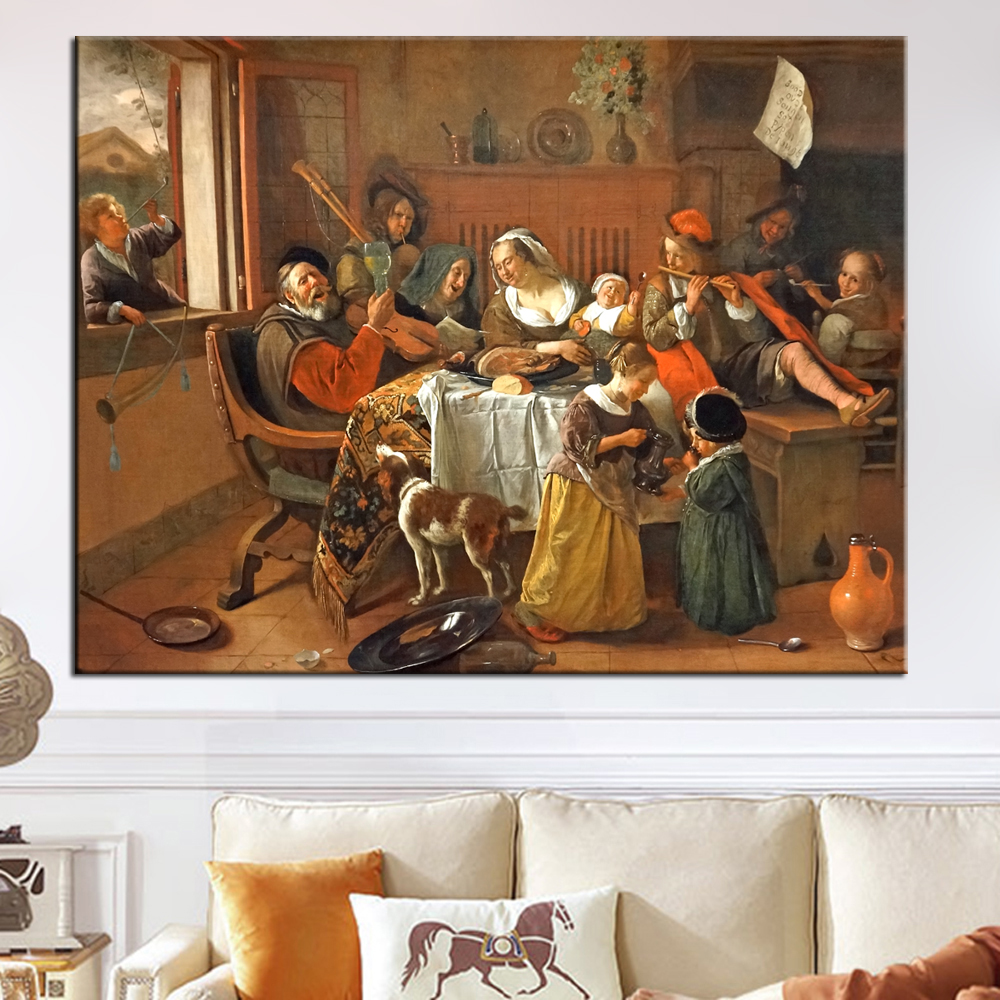 The Hy Family Wall Art Canvas Prints By Jan Havickszoon S Dutch Golden Age Reproductions Paintings For Living Room