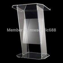 Прозрачная современная конструкция простая прочная дешевая прозрачная акриловая Трибуна