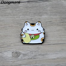 L2719 Cute Fortune Cat Pins Enamel Brooches for Women Men Lapel pin Cartoon Metal Badge Collar Jewelry Gifts 1pcs(China)