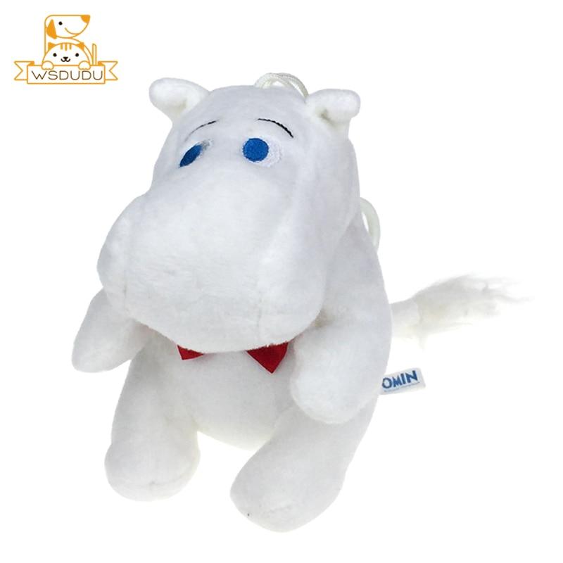 Chubby Moomin Hippos Hippopotamus Pendant Cute Animal Fat Kawaii Cartoon Plush Keychains Stuffed Toys Soft Dolls Kid Adult Gifts
