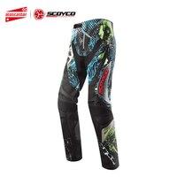 SCOYCO мотоциклетные брюки для мотокросса внедорожные гоночные бедра колодки брюки летние мотоциклетные штаны для ношения Pantalon Moto Racing брюки