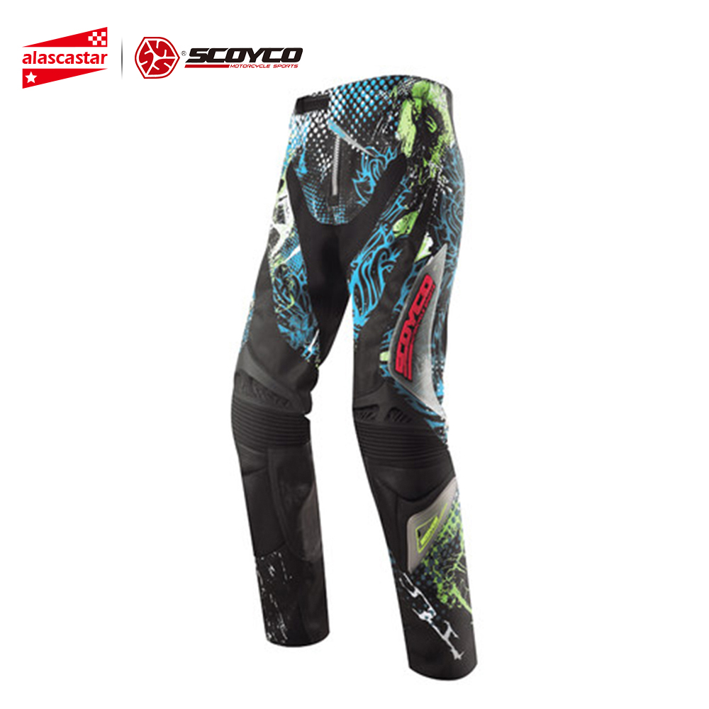 SCOYCO Motorcycle Pants Motocross Off-Road Racing Hip Pads Trousers Summer Motorcycle Wearable Pants Pantalon Moto Racing Pants scoyco mens motorcycle pants racing trousers winter summer p028