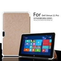 For Dell Venue 11 Pro 5130 Ultra Slim Book Smart Auto Sleeep Wake Silk Grain Leather