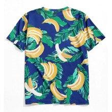 Мужская Летняя модная повседневная футболка с коротким рукавом и принтом банана, новинка, модная мужская футболка с принтом