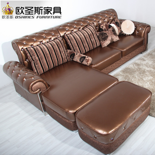 L Shaped Post Modern Italy Genuine Real Leather Sectional Latest Corner  Furniture Living Room Sofa Set Part 68