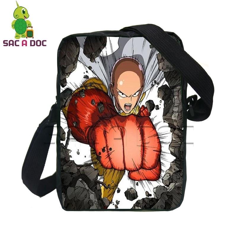 Cool Anime One Punch Man Saitama Genos Mini Messenger Bag for Teenagers Boys School Shoulder Bags Women Men Crossbody Travel Bag