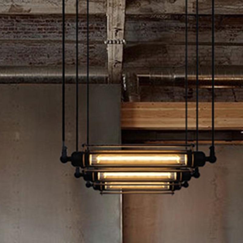 rh loft warehouse industrial vintage sigle head pendant lamp for restaurant bar counter