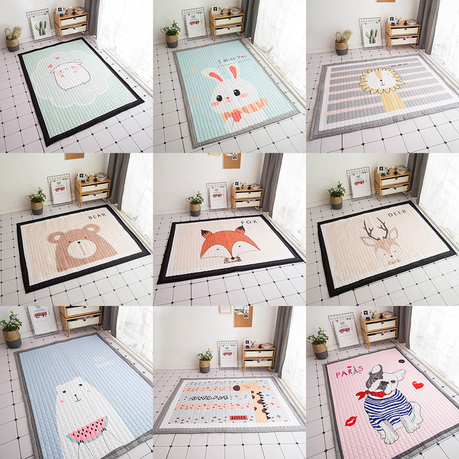 145x195cm Baby Developing Mat Thick Soft Kids Rug Folding Playmats For Baby Room Decoration Carpet Cartoon Baby Crawling Mat baby developing mat for newborns cartoon pattern kids rug soft thick baby activity gym educational carpet for children