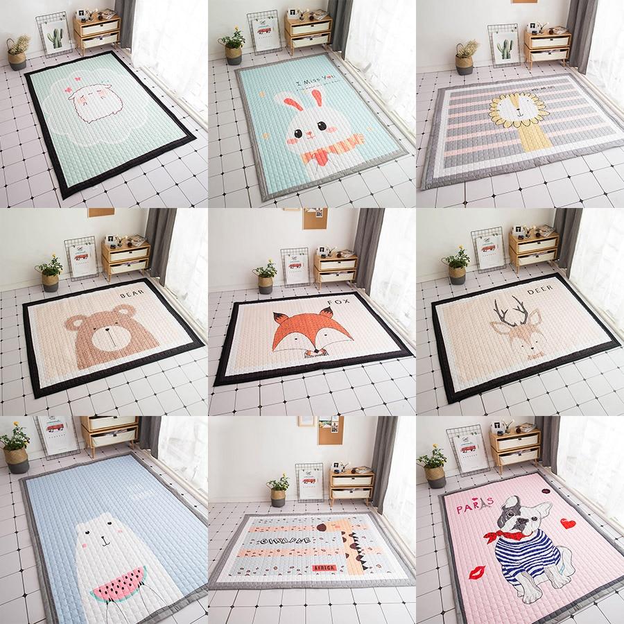 145x195cm Baby Developing Mat Thick Soft Kids Rug Folding <font><b>Playmats</b></font> For Baby Room Decoration Carpet Cartoon Baby Crawling Mat