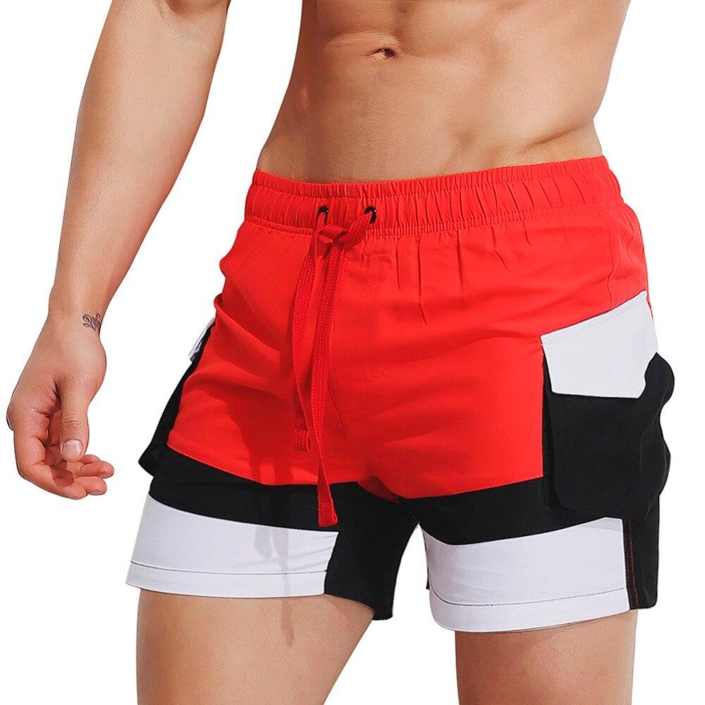 Superbody Brand Mens   Board   Beach   Shorts   Men   Short   Bottoms Quick Drying Fabrics Side Pocket Jogger Trunks Male Boardshorts