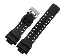 Los nuevos Mens negro de goma de silicona impermeable deportivo reloj de pulsera correa de la banda