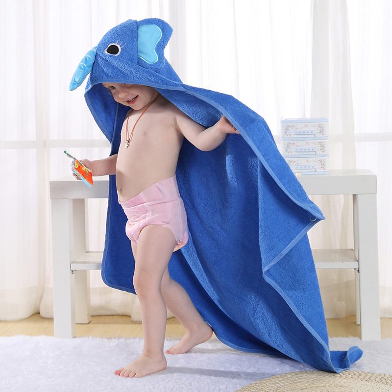 Baby Spring Xia Xinkuan Children Bathrobe Animal Cartoon Baby Cloak Cloak Pure Cotton Towel Material Baby Bath Towel