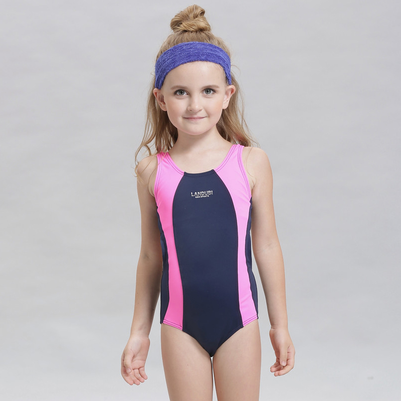 1e61dc95d18 New 2017 girls swimwear one piece for child swimsuit kids swim suit  children swimming wear beachwear-in Children's One-Piece Suits from Sports  ...