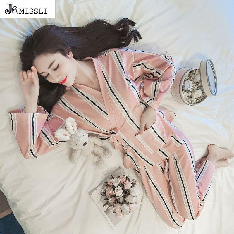 JRMISSLI kimono Coton Pijama Entero Pyjamas Femmes Pyjama Femme vêtements de Nuit Des Femmes Pyjamas Pijama Feminino Pyjama Femmes