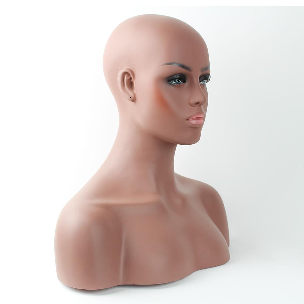 Busto de cabeza de maniquí balck de fibra de vidrio realista para - Artes, artesanía y costura - foto 2